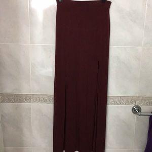 NWOT | Burgundy Maxi Skirt | Women's Size: L